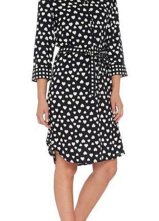 Платье рубашка в сердечки  tu размер 8