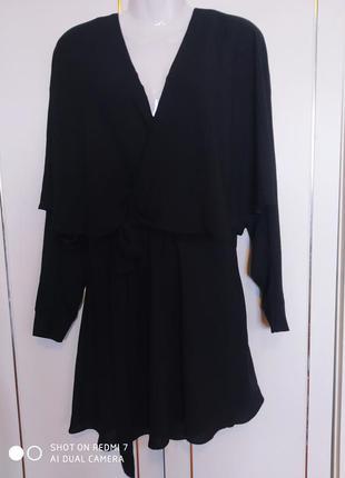 Шикарное вечернее черное праздничное платье