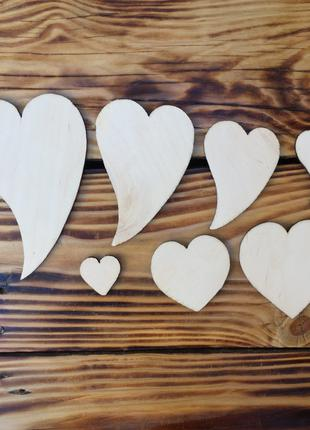 Деревянные заготовки для декупажа сердце