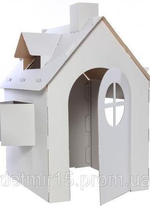 Детский домик из картона, картонный дом раскраска игра+рисование.