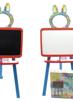 Мольберт детский магнитный двухсторонний, доска для рисования 3в1