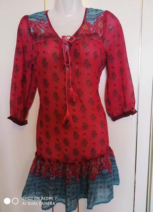 Летнее платье сарафан в цветы