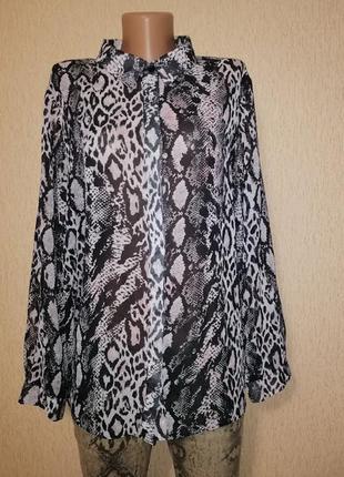 🔥🔥🔥красивая шифоновая блуза, блузка, рубашка батального размер...