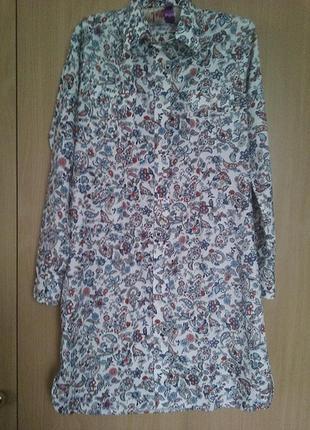 Платье-рубашка котоновое р. m-l