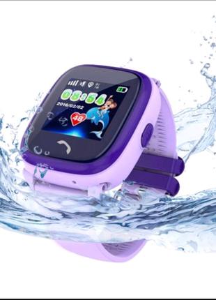 Детские смарт-часы JETIX DF25 Aqua Purple