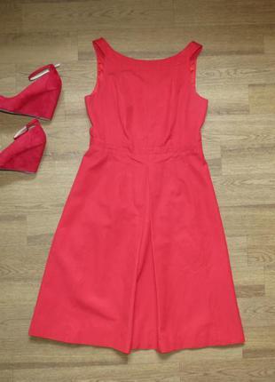 Шикарное красное платье миди