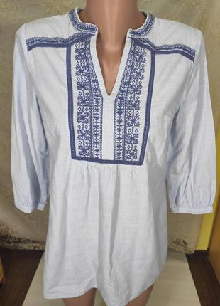 Стильная рубашка с вышивкой рубаха блуза вышиванка туника