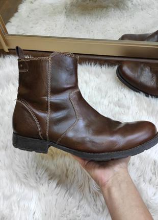 Кожаные коричневые сапоги ботинки стелька 29-30см