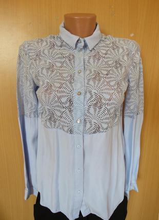 Красивая полупрозрачная блуза рубашка