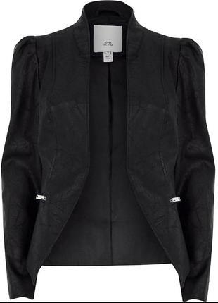 Стильная кожаная куртка накидка пиджак жакет