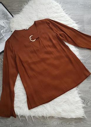 🔥 sale 🔥стильная блузка с золотой фурнитурой 🖤 river island 🖤