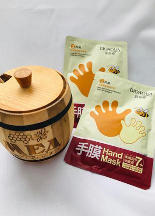 Зволожуюча маска - рукавичка з медом bioaqua,1 пара
