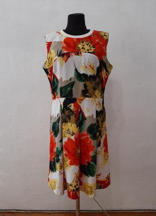 """Стильное платье """" цветочный микс """" большого размера"""