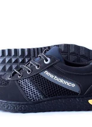 Мужские кроссовки New Balance сетка черные