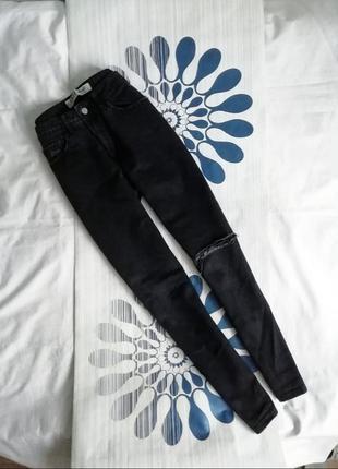 Черные джинсы мом момы mom серые высокой посадке талии чорні д...