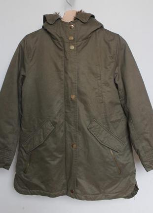 Zara детская куртка парка на девочку 11 12 лет 152 см