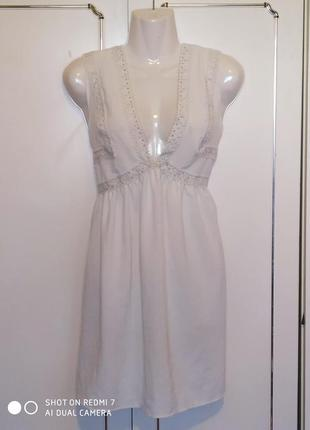 Летнее платье сарафан белое