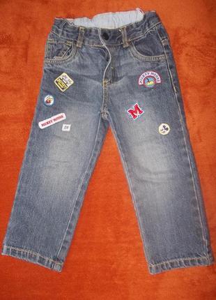 Джинсы дисней р.92 к ним джинсы для дома в подарок