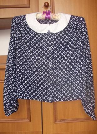 Блуза школьная на 8-10 лет