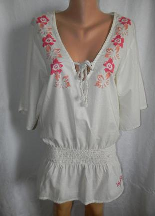 Натуральная блуза-туника