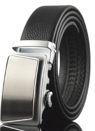 Мужской Кожаный Ремень Автомат (LY87636) Черный 110 - 130 см