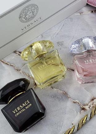 Подарочный набор парфюмерии versace 3x25 ml