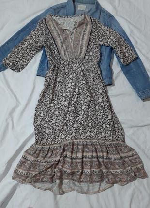 Платье миди, сарафан с рукавом