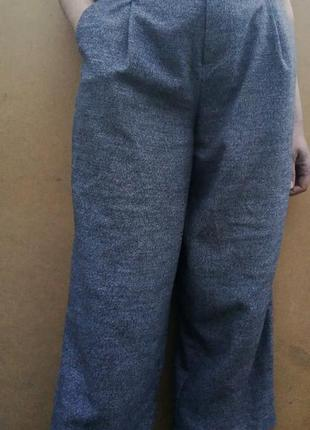 Брюки кюлоты укороченные штаны pull&bear