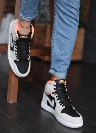 Nike air force high grey black