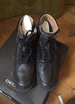 Ботинки зимние мужские geox кожа, gore-tex