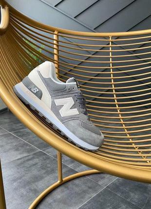 New balance 574 grey cтильные кроссовки нью беленс весна\лето\...