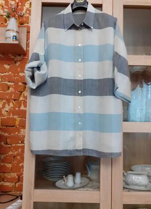 Суперовая льняная рубашка большого размера