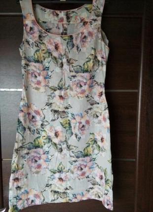 Супер платье ручной работы с натуральной ткани