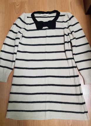 Вязаное платье в полоску next