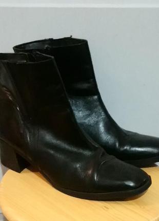 Кожаные ботинки/полусапожки. стелька 28,5