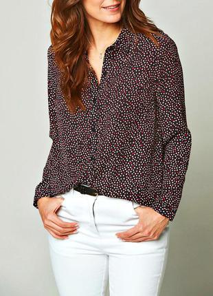 Длинная блузка-рубашка на пуговичках, батал р.24