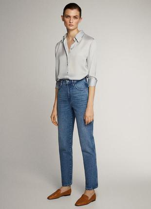 Голубые джинсы мом момы mom на высокой посадке талии блакитні ...