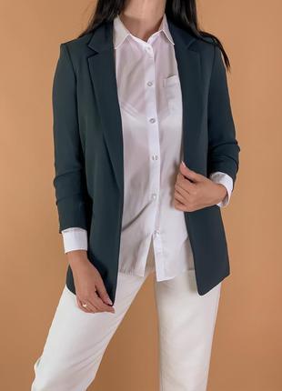 Пиджак удлиненный свободного кроя/ оверсайз.