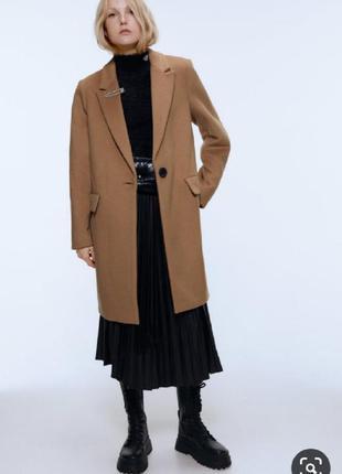 Прямое классическое пальто кэмел бежевое пряме класичне кемел ...