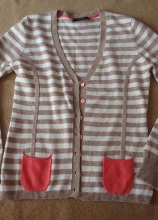 Шерстяной/ кашемировый свитер с яркими карманами cassis