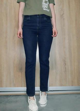 Классные базовые джинсы на завышенной посадке ровного прямого ...