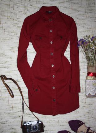 Стильное коттоновое  платье рубашка