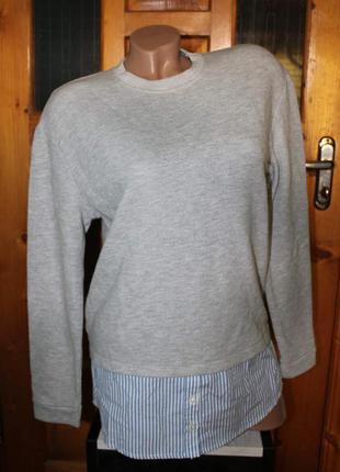 Свитшот с имитацией рубашки