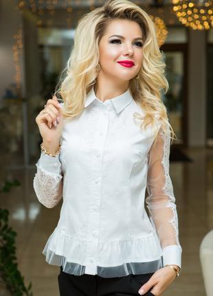 Блузка с французским кружевом