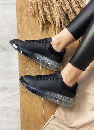 Alexander mcqueen прекрасные женские кроссовки маквин прозрачн...