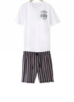 Летний комплект мужская пижама домашний костюм livergy германия