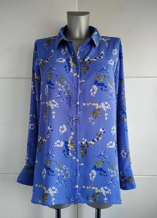 Нарядная блуза marks&spencer с принтом красивых цветов