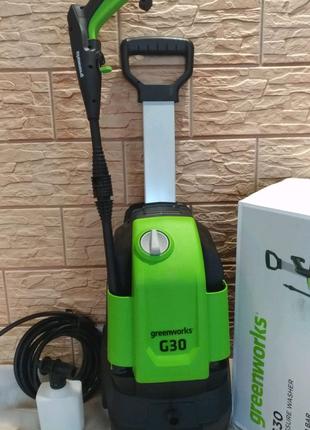 Мойка высокого давления Greenworks G30. Бесплатная доставка.