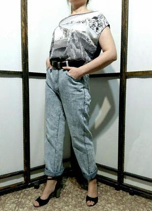 Винтажные джинсы момс варенки с высокой посадкой бренд diplom