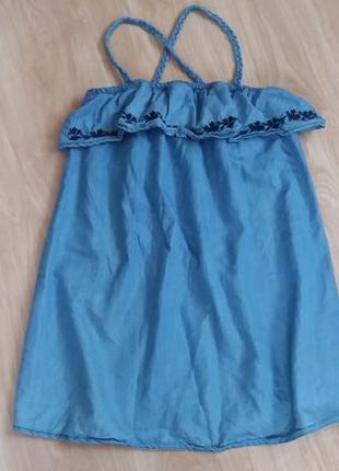 Джинсовое платье 12-13 лет